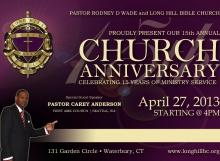 2013 Church Anniversary